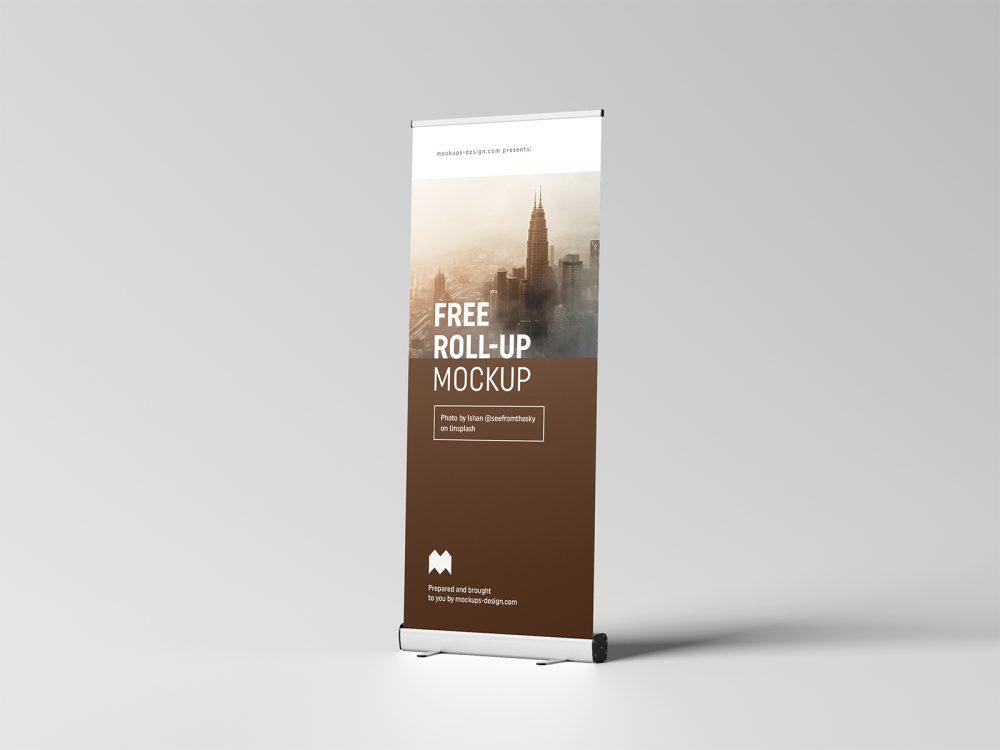 Free Roll-Up Mockup 85x200 cm