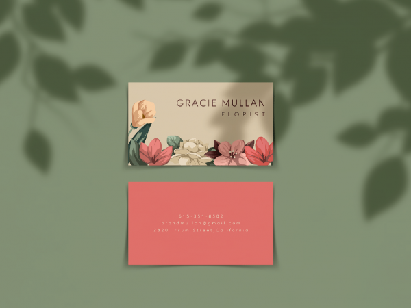 Horizontal Business Card Free Mockup
