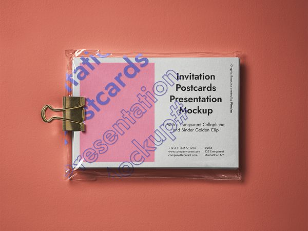 PSD Postcard Mockup Presentation