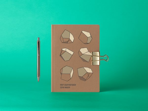 Cover Kraft Notebook Free Mockup