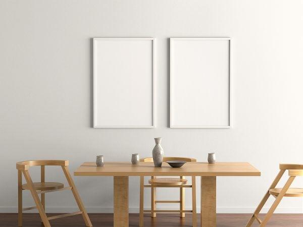 Free Indoor Poster Frame Mockup