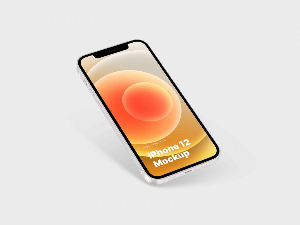 Free iPhone 12 PSD Mockup