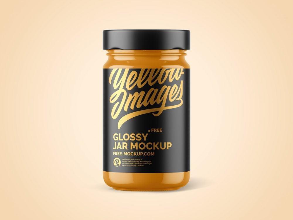 Glossy Jar Package Free Mockup