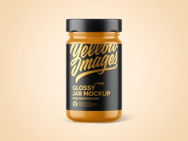 Glossy Jar Package Free Mockup
