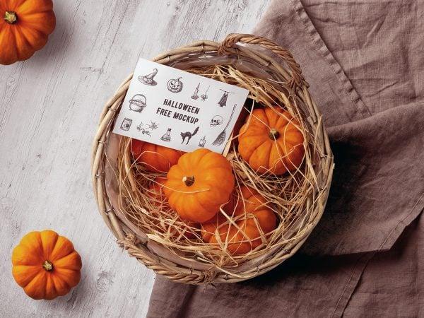 Halloween Greeting Card Free Mockup