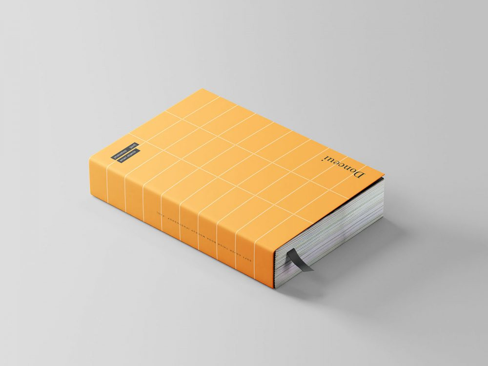 Thick Softcover Book Mockup