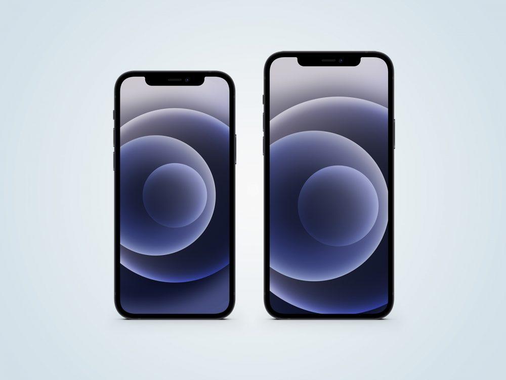 iPhone 12 Black Free Mockup