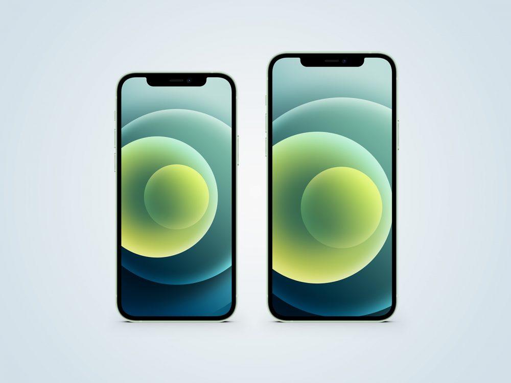 iPhone 12 Green Free Mockup