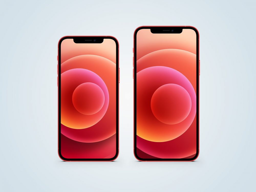 iPhone 12 Red Free Mockup