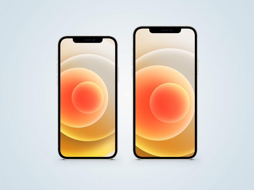 iPhone 12 White Free Mockup