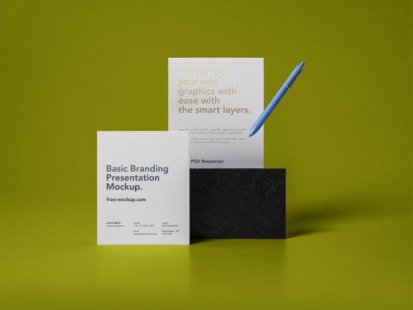 Basic Stationery Branding Free Mockups