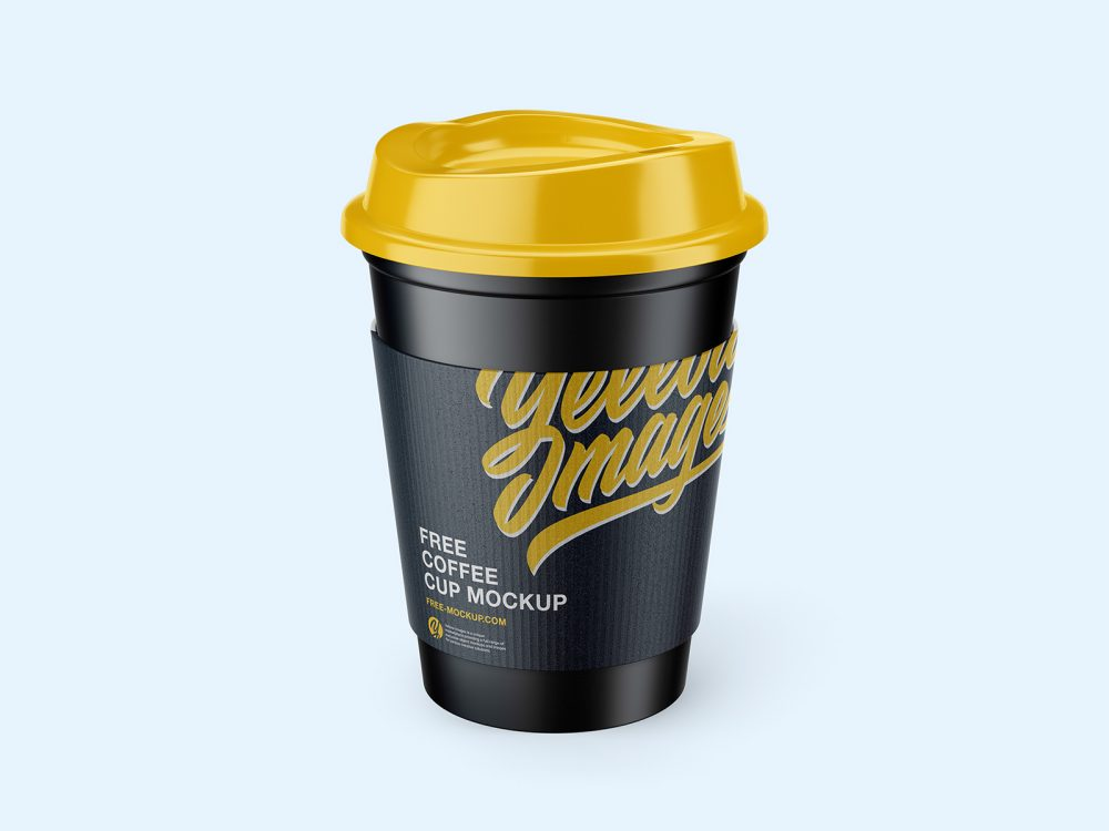 Coffee Cup with Holder Free Mockups