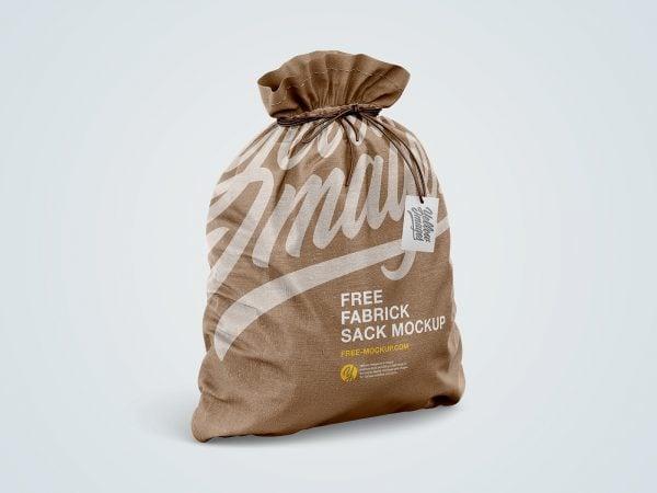 Fabric Sack Mockup Free