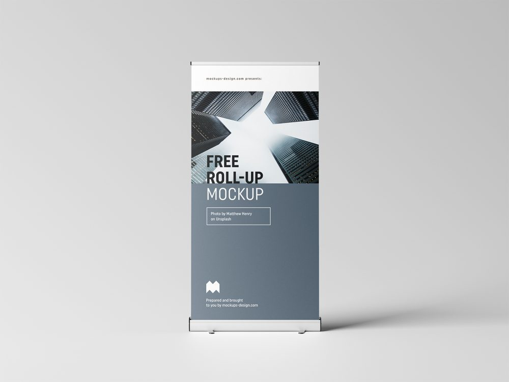 Free Roll-Up PSD Mockup