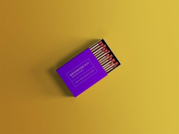 Matchstick Box Free Mockup