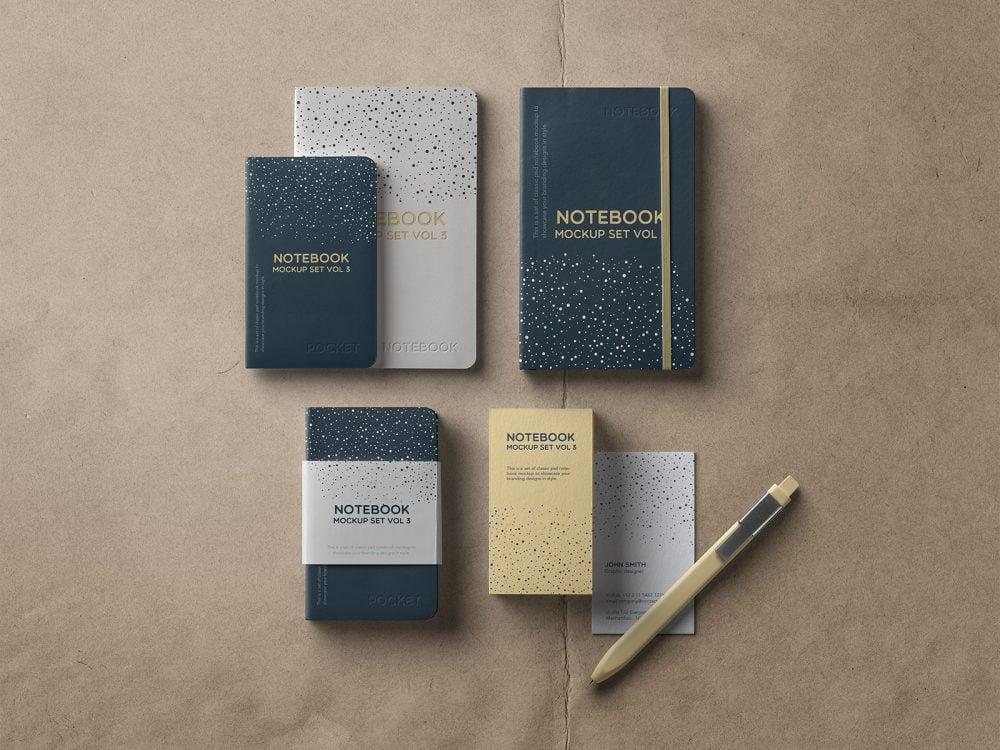 Notebook Free Mockup Set