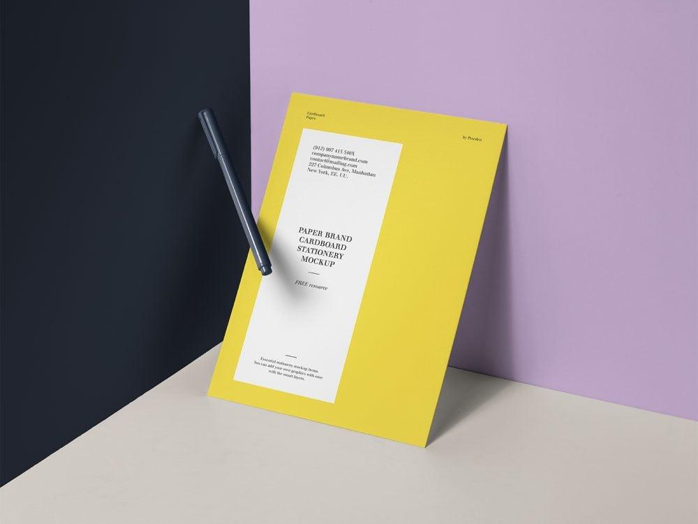PSD Paper Brand Free Mockup