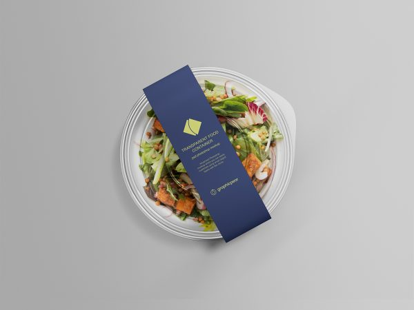 Salad Container Packaging Mockup