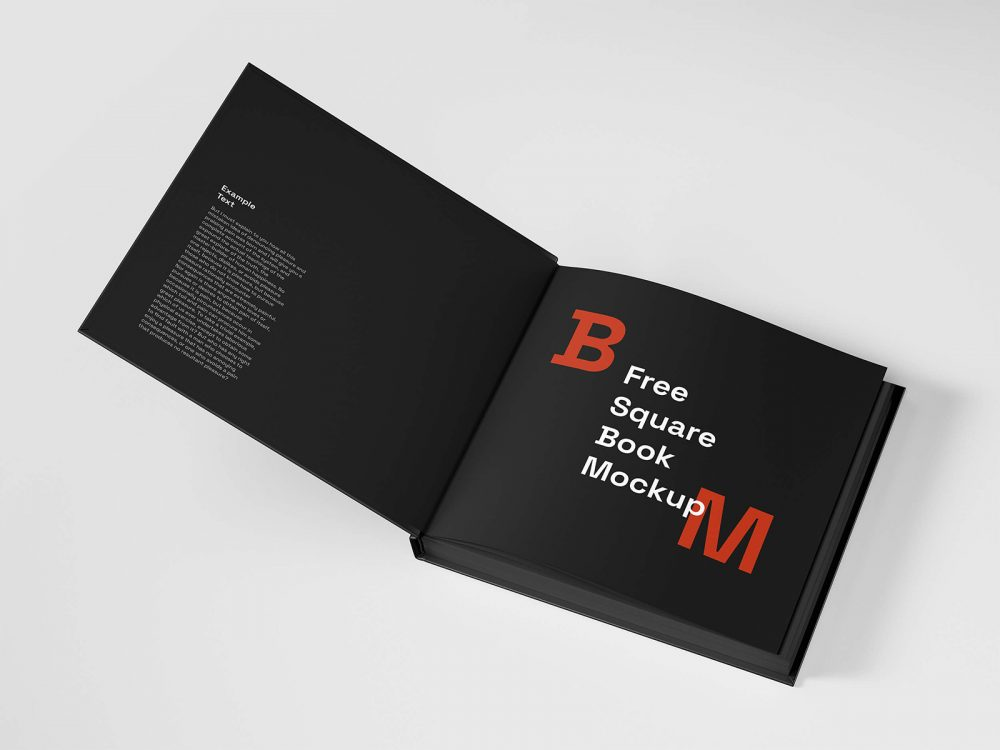Square Book Mockup Free
