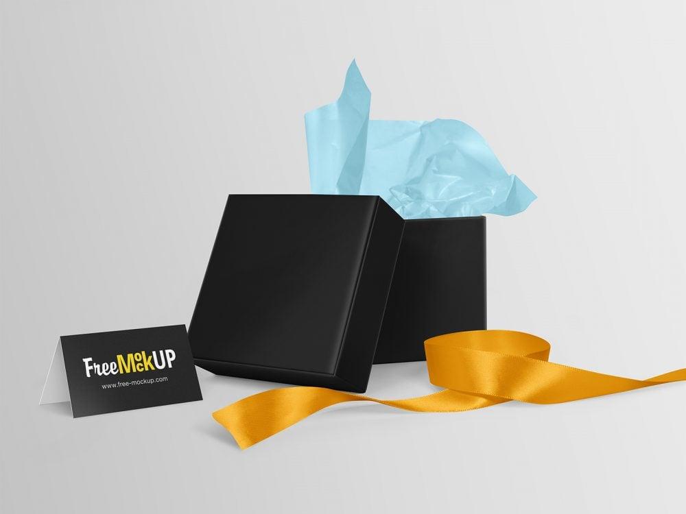 Square Gift Box Free Mockup