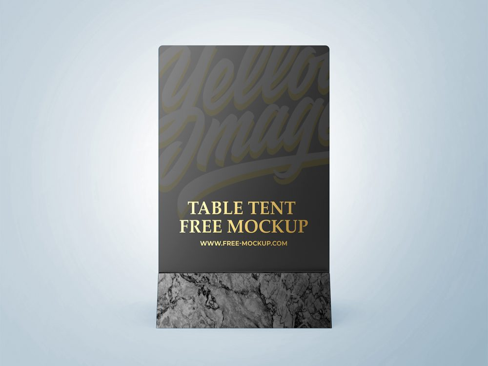 Table Tent Free Branding Mockup