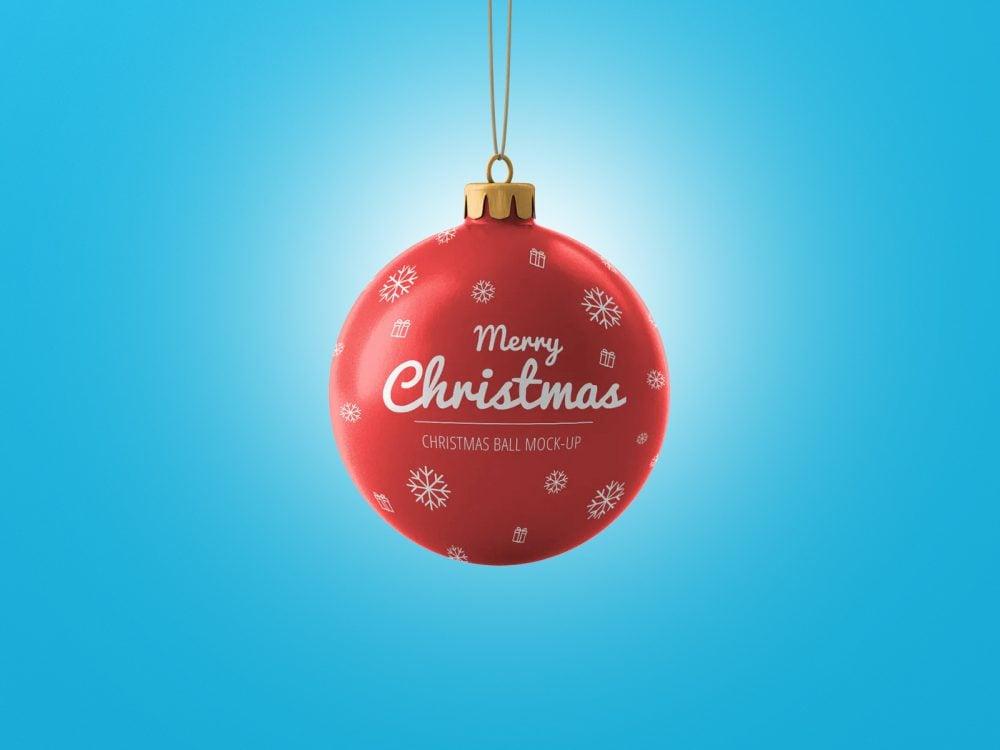 Christmas Ball Free Mockup