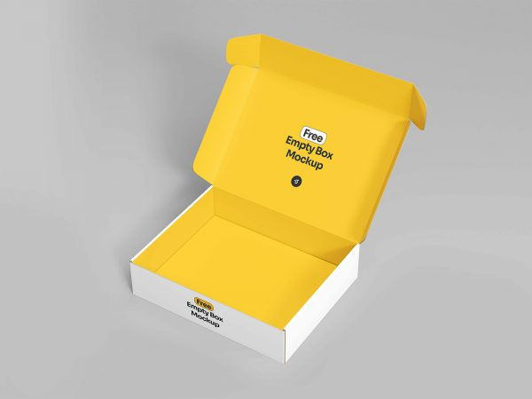 Free Open Empty Box Mockup