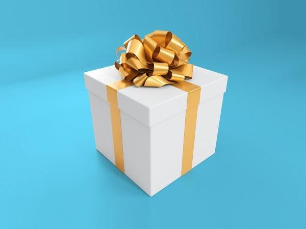 Gift Box Free Mockup