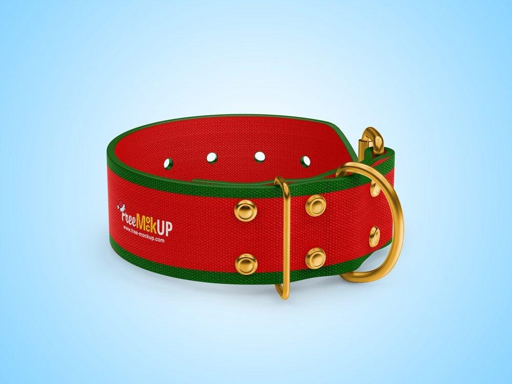 Linen Dog Collar Free Mockup