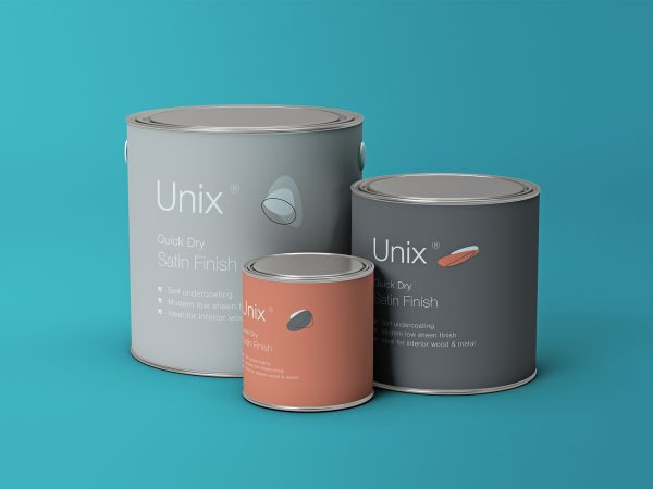 Metal Paint Buckets Free Mockups