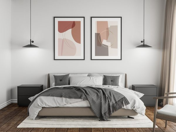 Poster Free Mockup in the Master Bedroom
