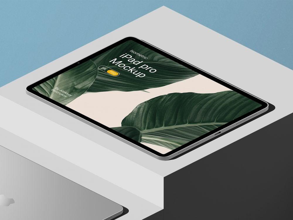 iPad Pro Free Mockup Scene
