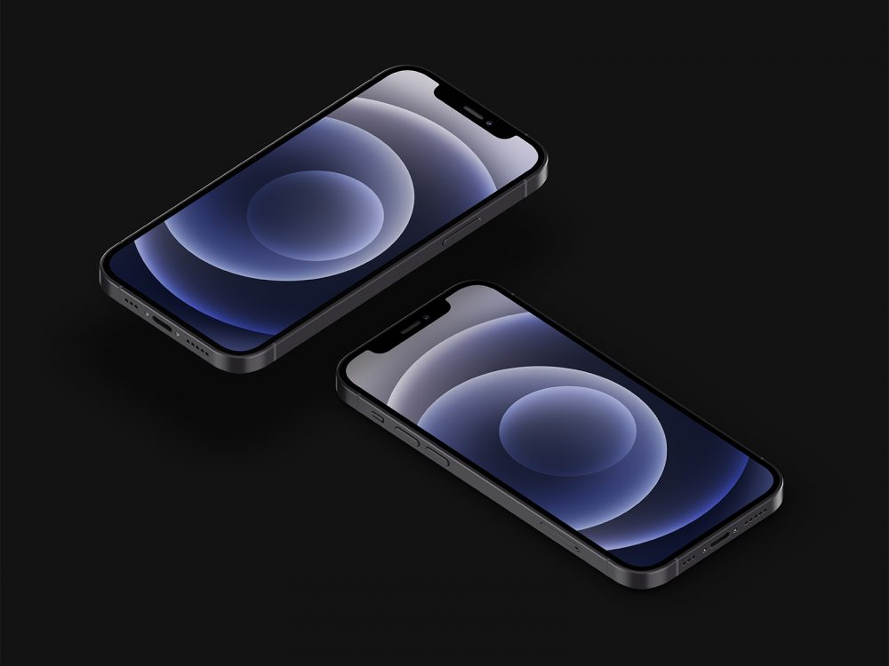 iPhone 12 Free Mockup Set