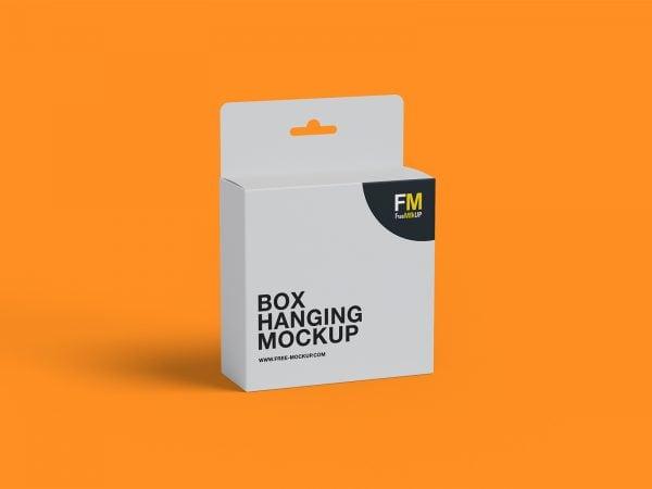 Box Hanging Free Mockup