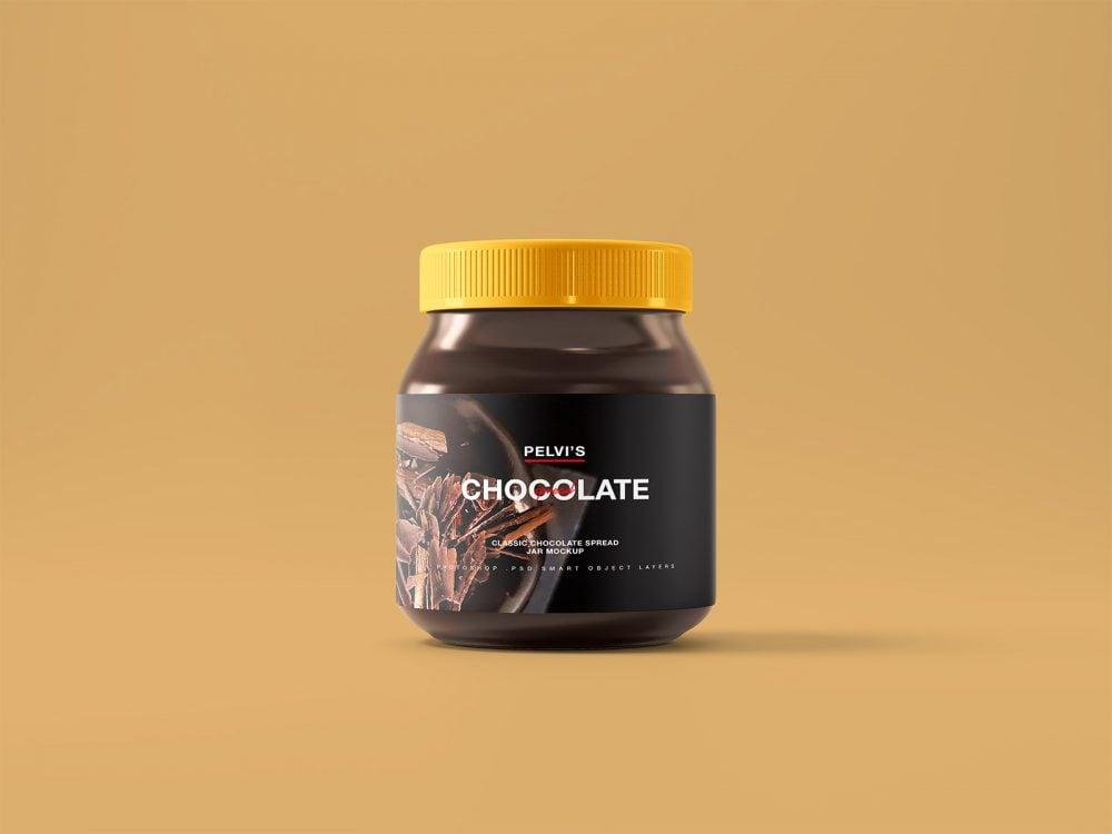 Chocolate Jar Free Mockup