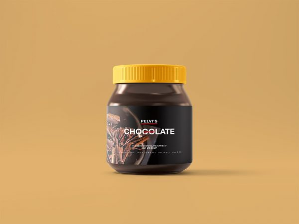Chocolate Jar Free Mockup