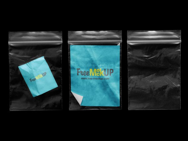 Clear Zip Lock Bag Mockups