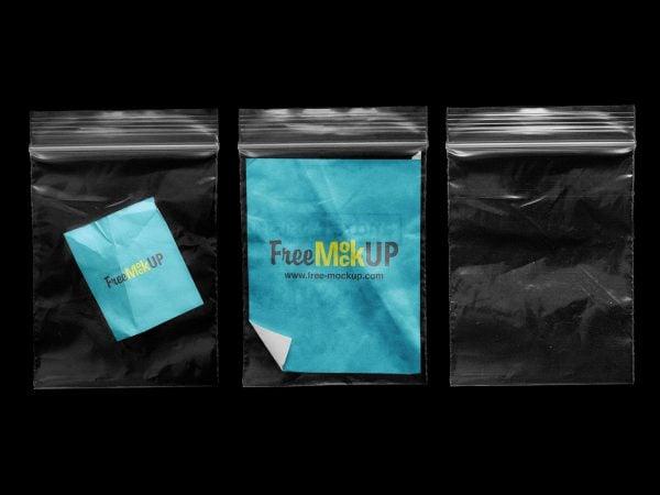 Clear Zip Lock Bag Mockups