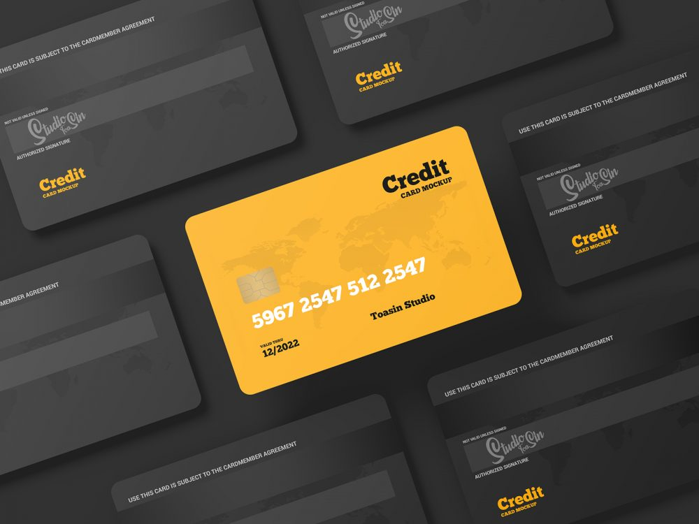 Credit Cards/Gift Cards Free Mockup