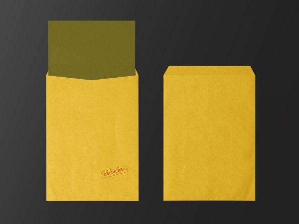 C4 Envelope Free Mockups