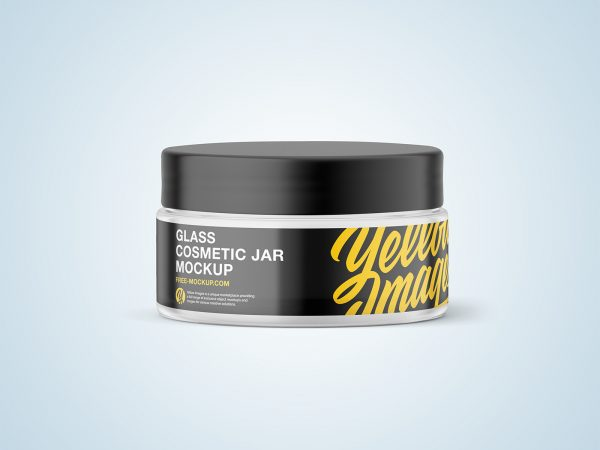 Glass Cosmetic Jar Free Mockup