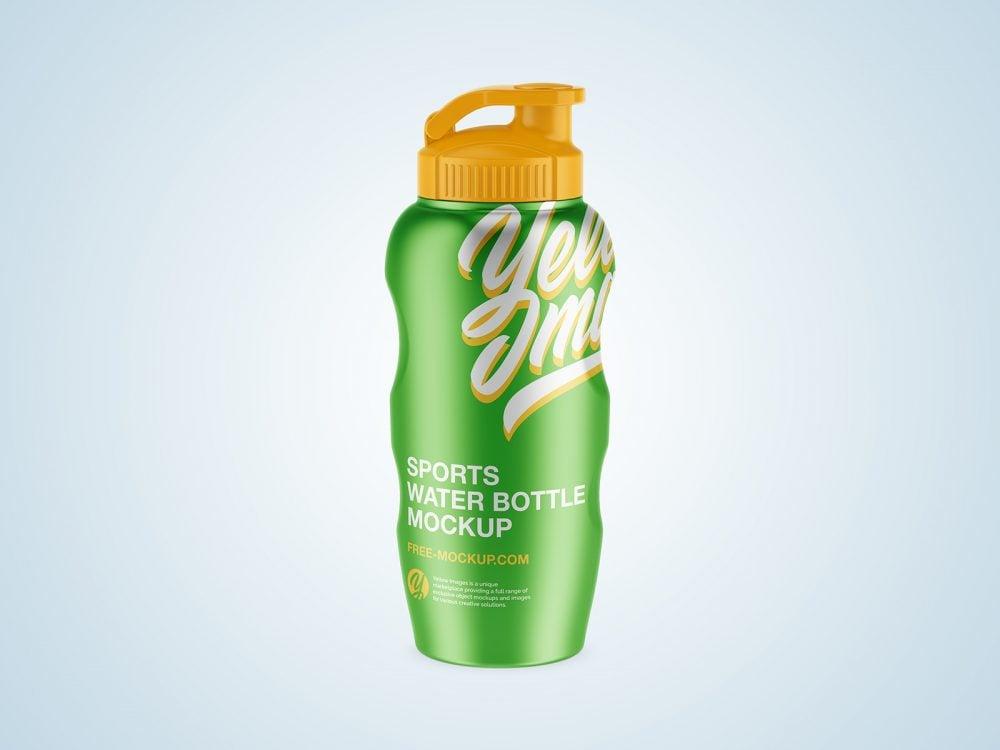 Metal / Sports Water Bottle Mockup