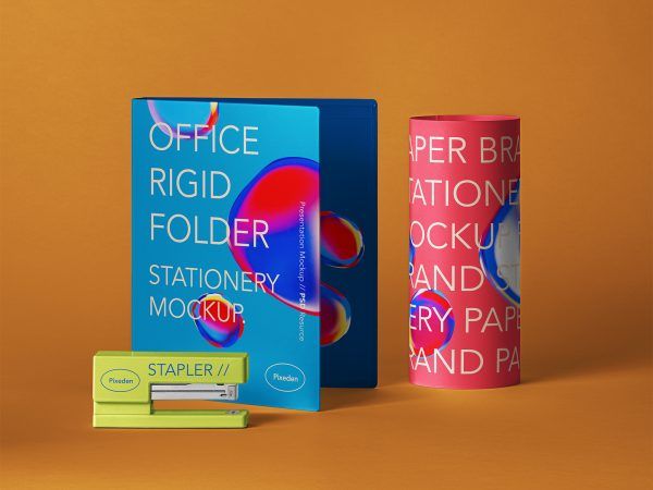 Stationery Brand Folder Mockup Scene