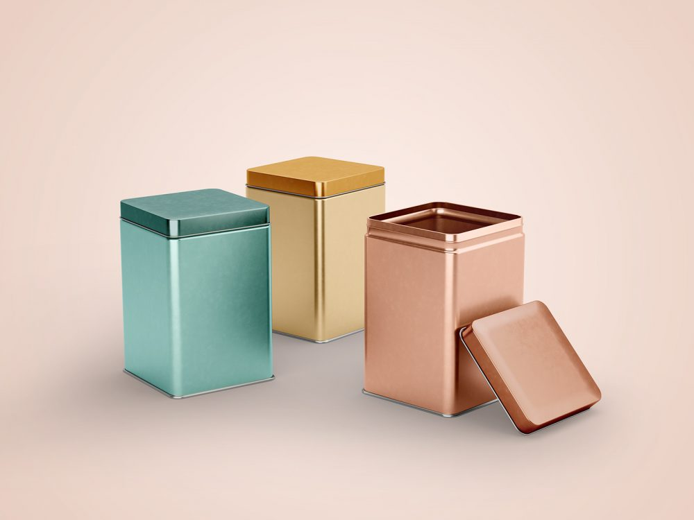 Tin Canister Packaging Mockups