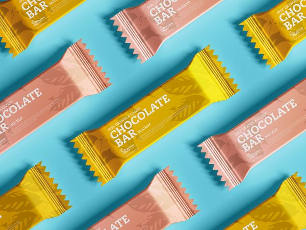 Free Chocolate Bar Mockup