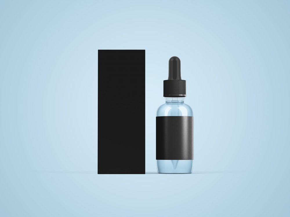 Free Dropper Bottle Packaging Mockup