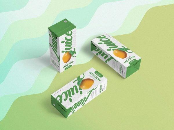 Free Juice Box PSD Mockup