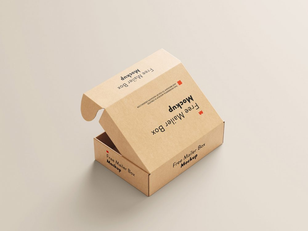 Mailer Box Free Mockup Set