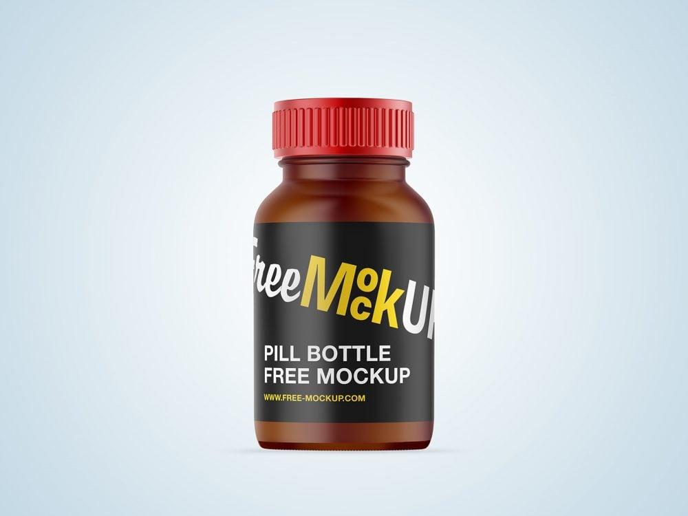 Pill Bottle Free Mockup