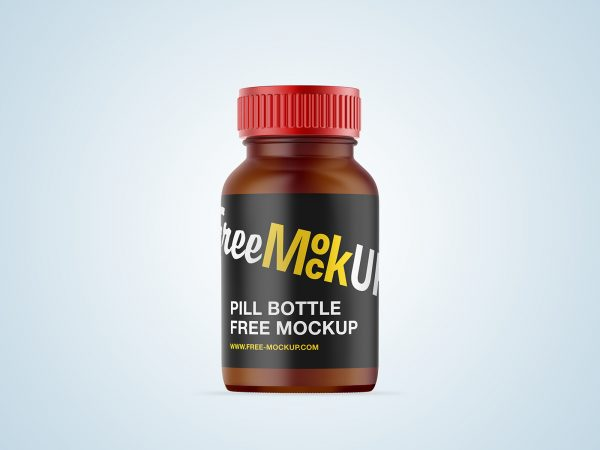 Pill Bottle Free Mockup